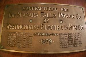 Placa de los generadores