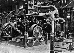 Westinghouse Motor en la Sala de Exposiciones de Maquinaria