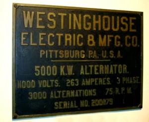 placa westinghouse niagara