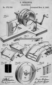 Patent Berliner 1887