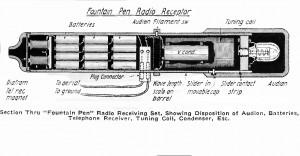 1918 Radio pluma con triodo